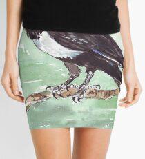 Domino, the Pied Crow (Corvus albus) Mini Skirt