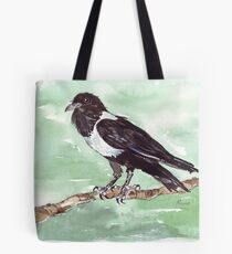 Domino, the Pied Crow (Corvus albus) Tote Bag