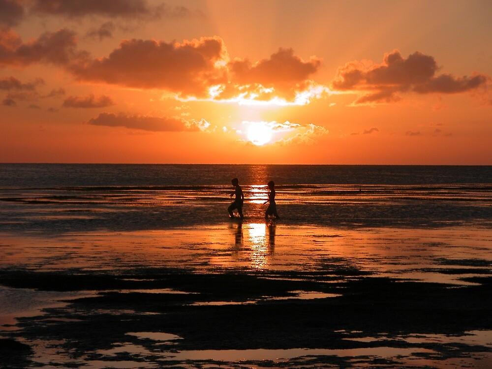 Sunset At The Bay by Jennifer Suttle