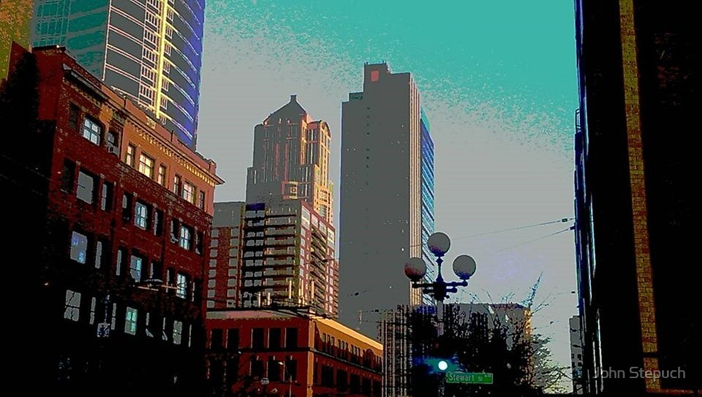 Downtown Seattle by John Stepuch