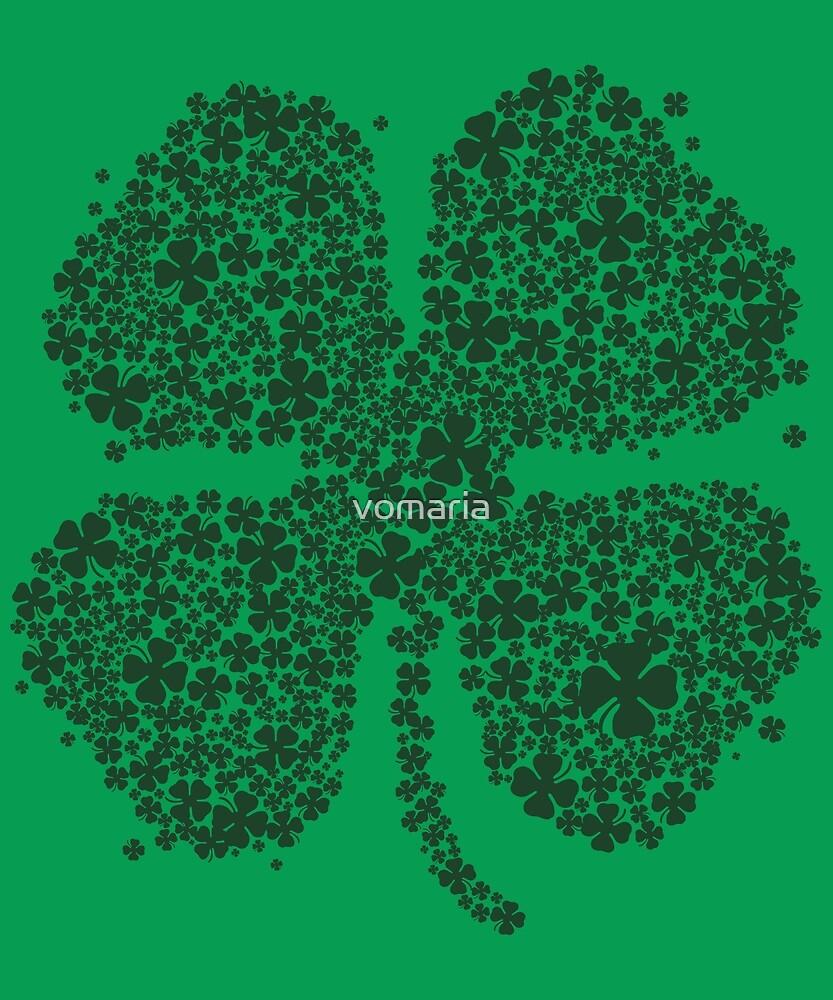 Four Leaf Clover Green Shirt St Patricks Day Shamrock Shirt by vomaria