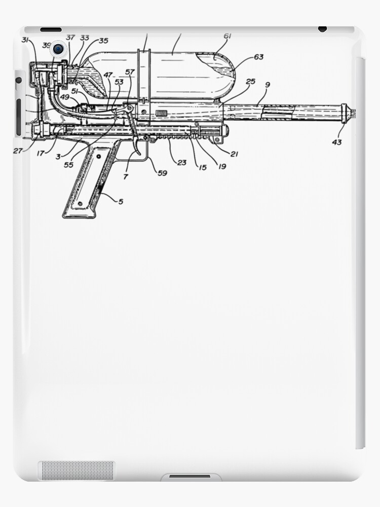 Nerf super soaker patent blueprint ipad cases skins by notional nerf super soaker patent blueprint by notional malvernweather Images