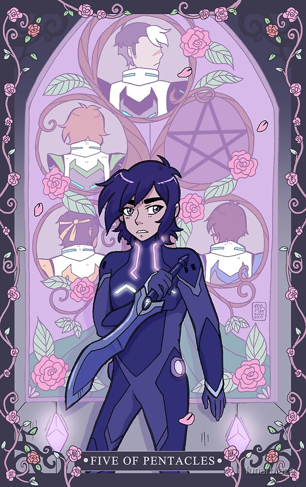 Keith: Five of Pentacles by lunarblaze