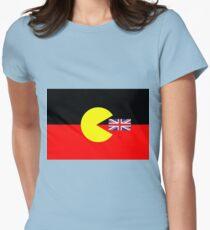 Australian Aboriginal Flag Women's Fitted T-Shirt