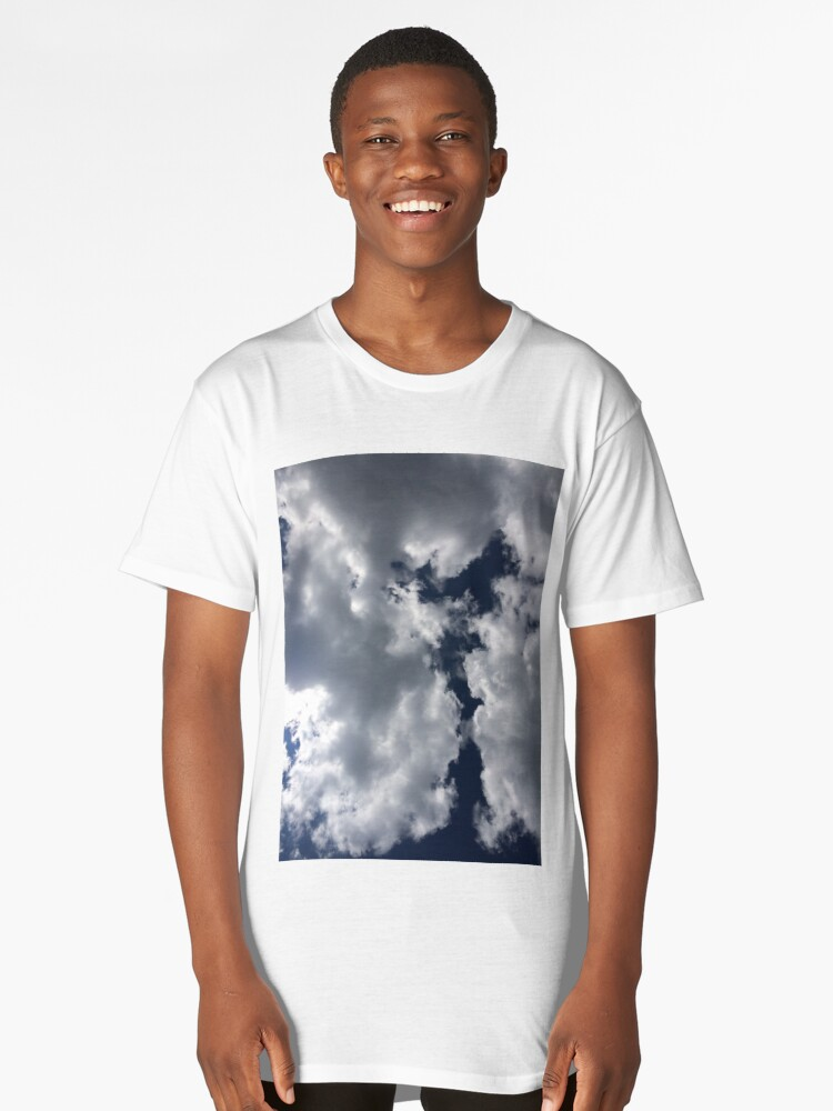 Puffy Clouds Long T-Shirt Front