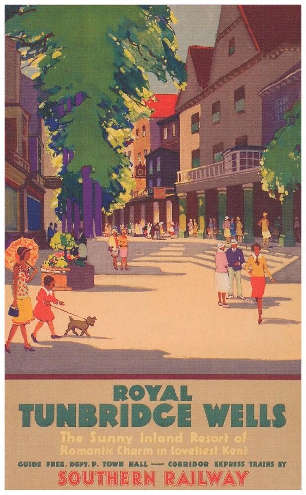 Royal Tunbridge Wells, England Vintage Travel Poster by vintagevivian