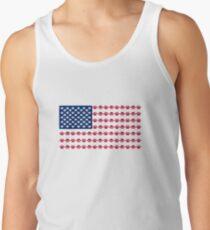 Paw Print American Flag Tank Top