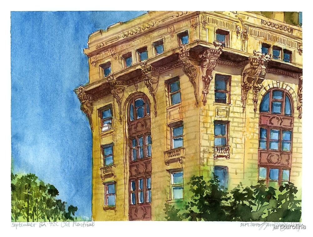 Old Montreal Watercolour by artkarolina