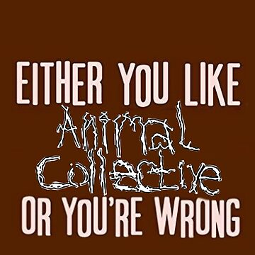 Either you like Animal Collective or You're wrong by Albinoseale