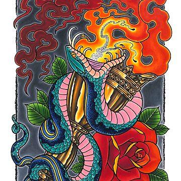 Snake Torch by asplashofcolor