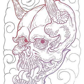 Demon Skull by asplashofcolor