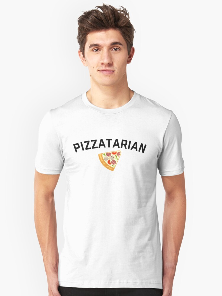 Pizzatarian Shirt Foodie Junk Food Pizza Graphic Tee Unisex T-Shirt Front