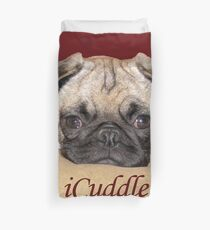 Cute iCuddle Pug Puppy Art, iPhone & iPad Cases Duvet Cover