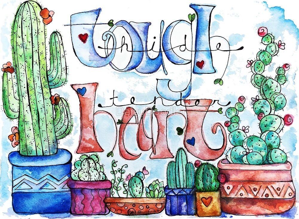 Southwest Tough Hide Tender Heart by DaisyDoodler