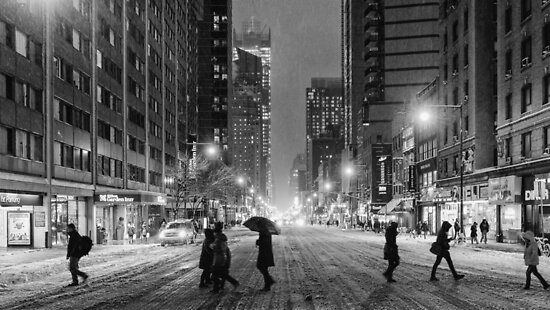 The cold streets of NYC by Roger  Mackertich