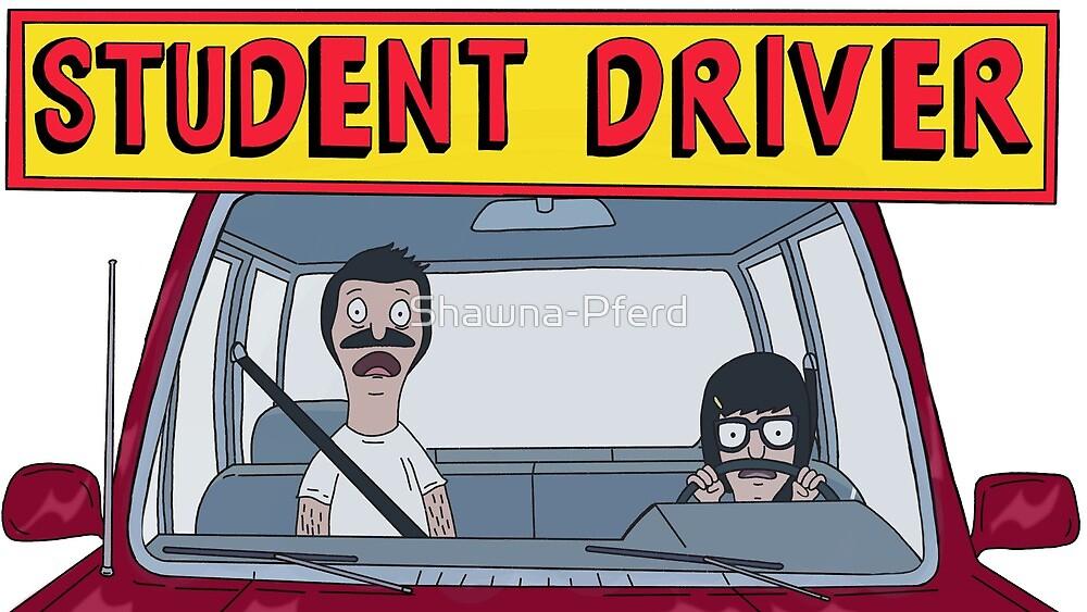Bob's Burgers Student Driver Sticker by Shawna-Pferd