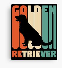 Vintage Golden Retriever T-Shirt Retro Golden Retriever Gift Canvas Print