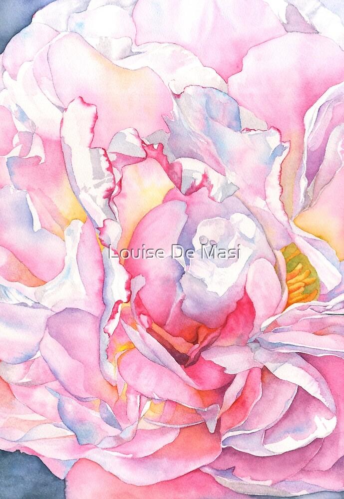 Peony Watercolor by Louise De Masi