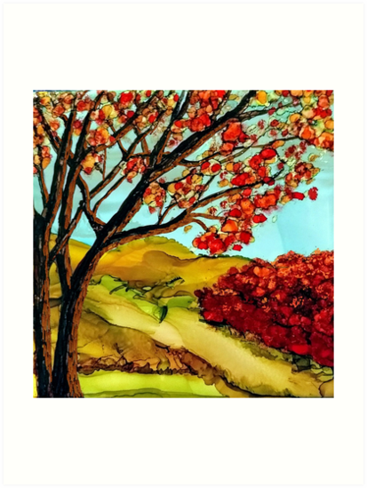 autumn afternoon landscape by Marcella Chapman