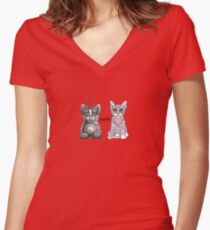 BFF Best Friends Forever Women's Fitted V-Neck T-Shirt