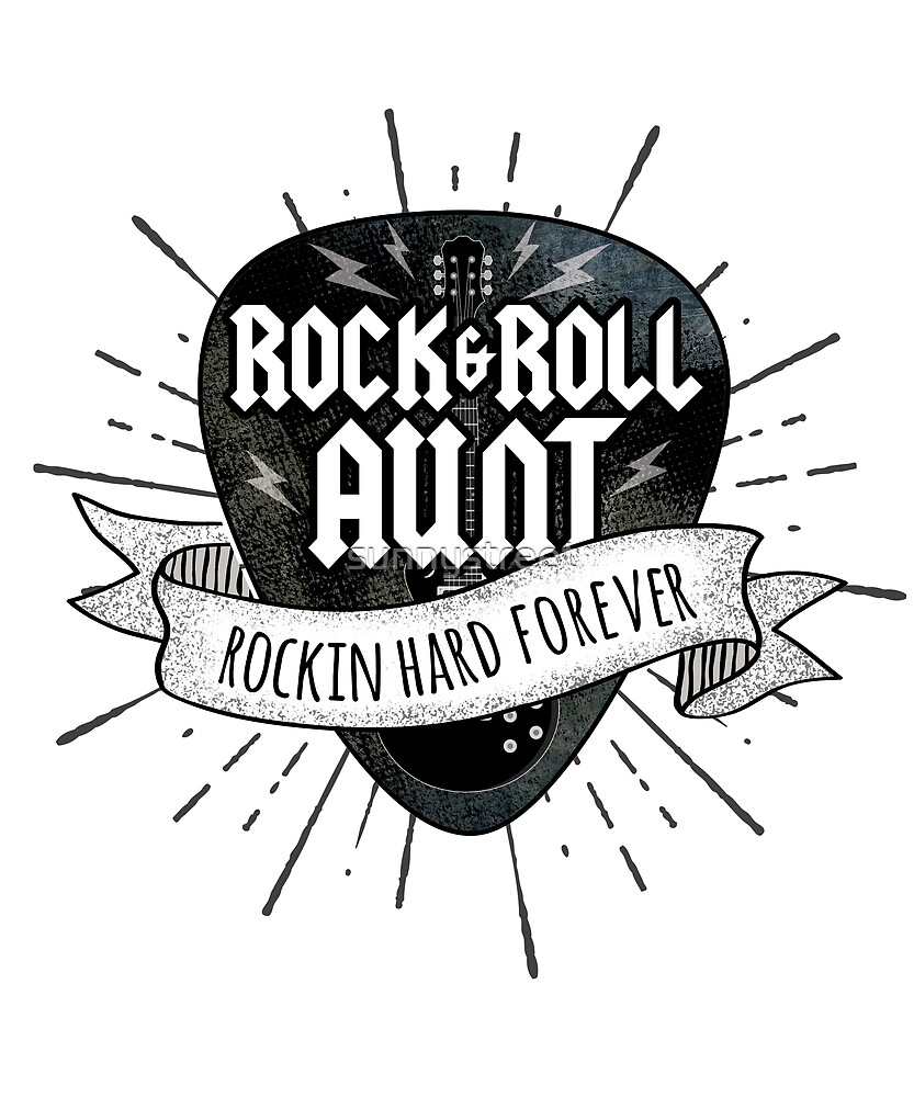 Rock And Roll Aunt Grunge Guitar Pick by SunnyStreet
