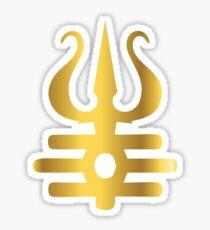 Lord shiva golden trishul designer artwork  Sticker
