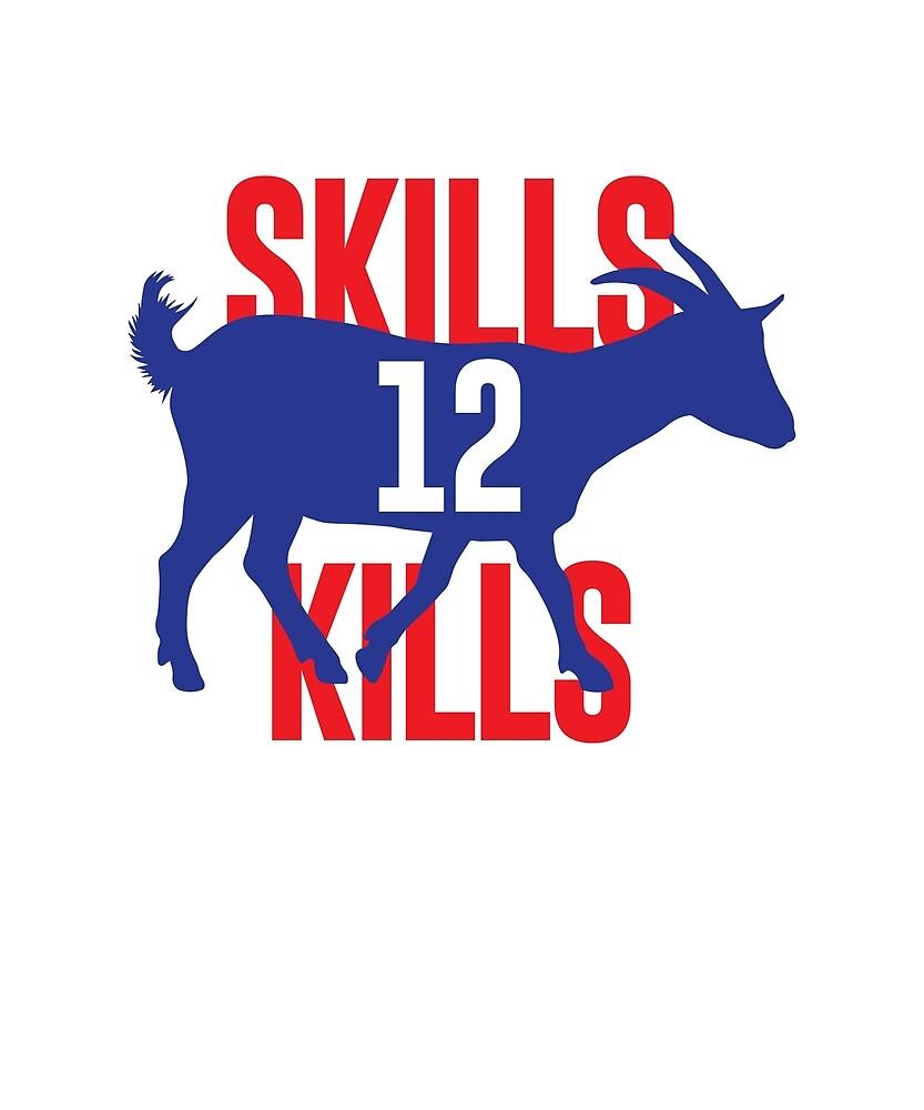 Skills Kills Tom Brady Shirt by teeshirtmaniac