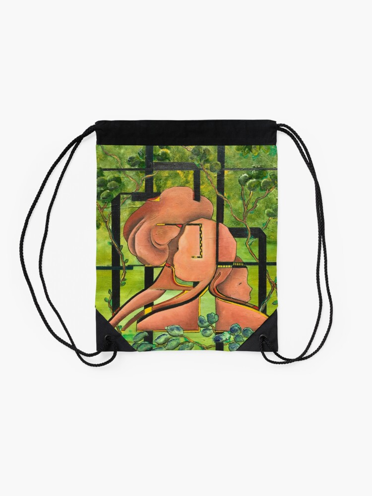 Alternate view of Enchanted Forest Drawstring Bag
