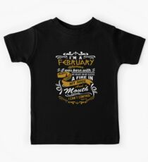 Women's In February Kids Tee