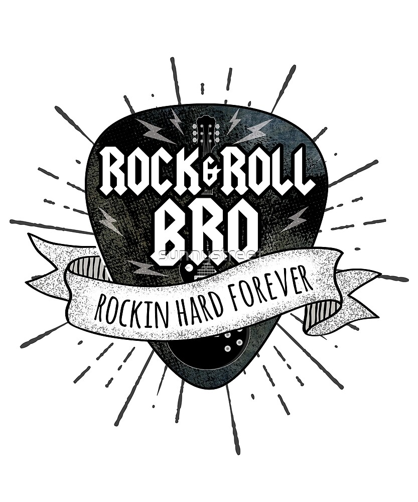 Rock And Roll Brother Grunge Guitar Pick by SunnyStreet
