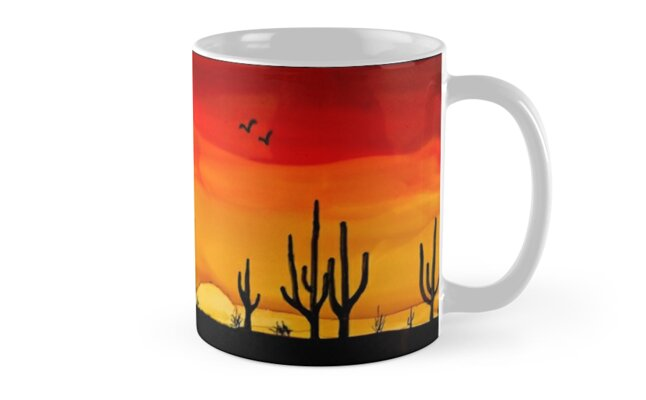 cactus sunset by Marcella Chapman