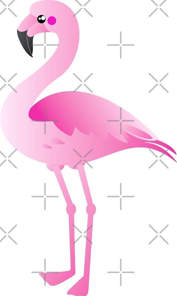 Pink Flamingo print by Brandy Watkins