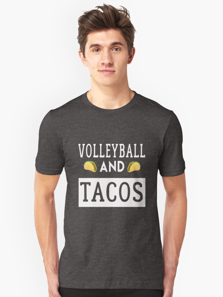 Volleyball And Tacos Shirt. Costume For Kids From Dad/Mom. Unisex T-Shirt Front