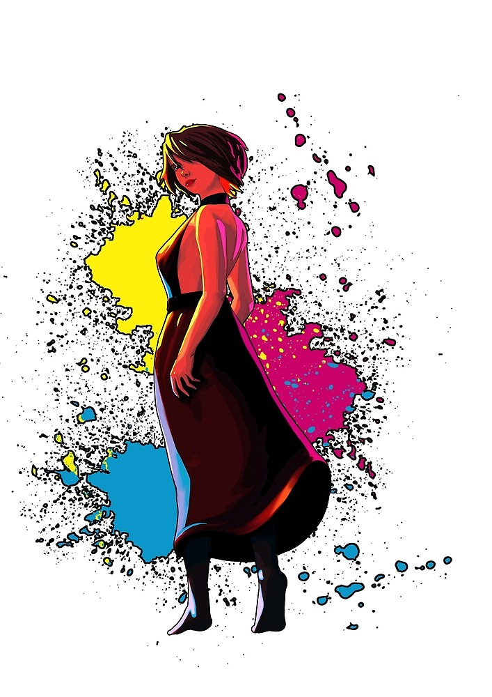 CMYK Girl by Moggies Designs