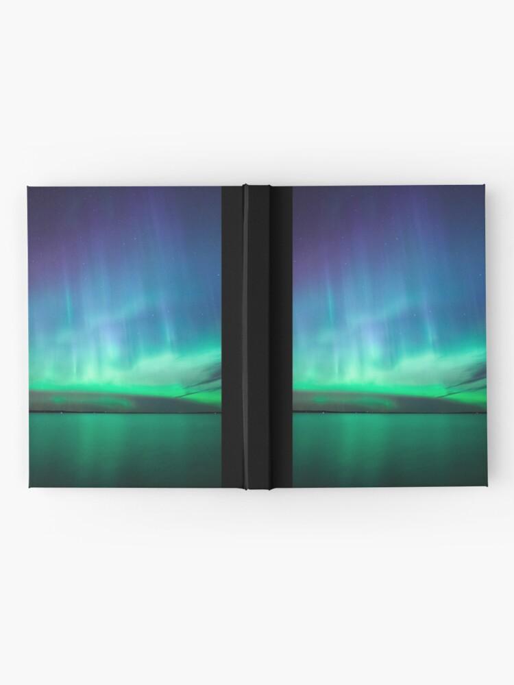 Alternative Ansicht von Schöne Nordlichter Notizbuch