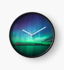 Beautiful northern lights Clock