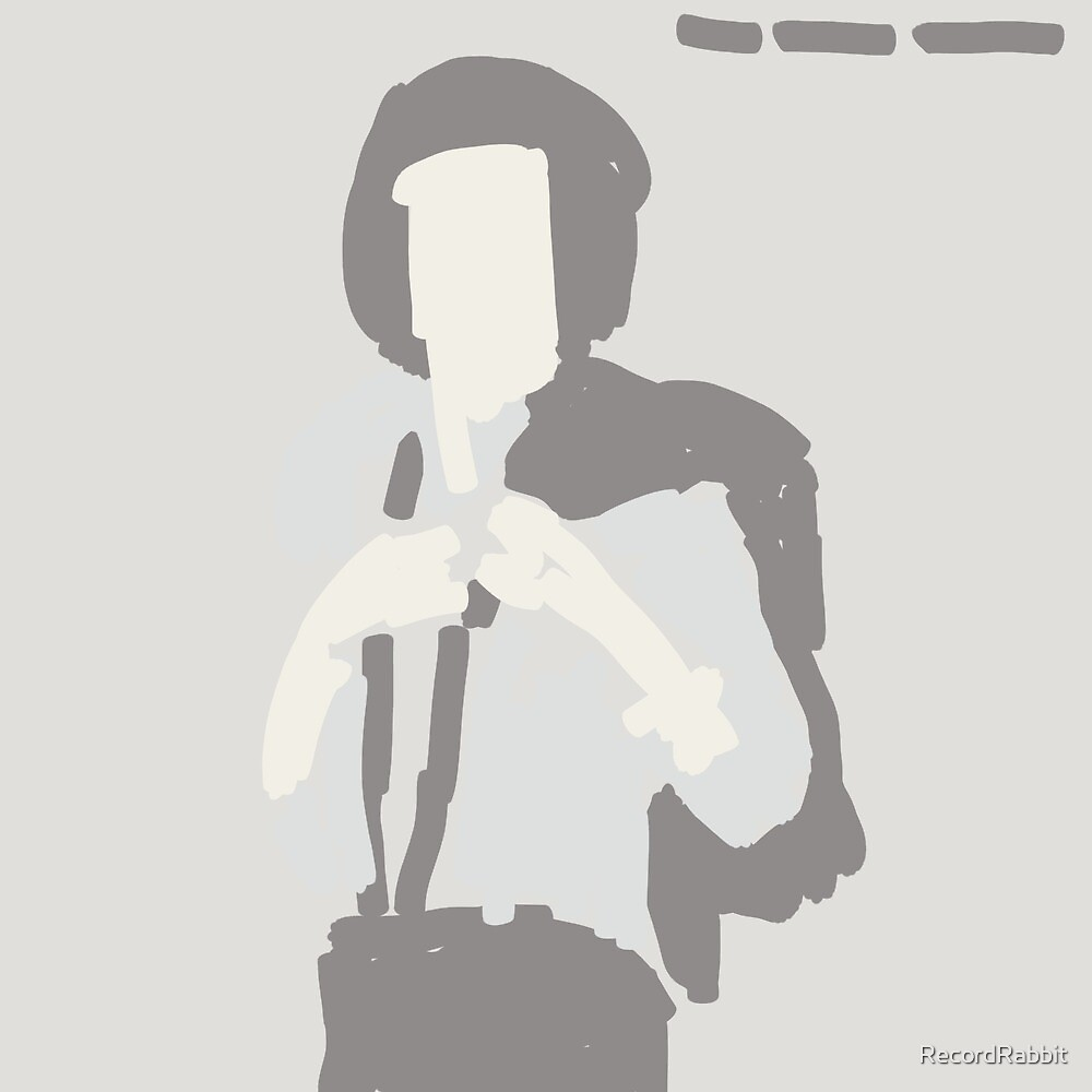 Patti Smith Horses (finger painting cover) by RecordRabbit