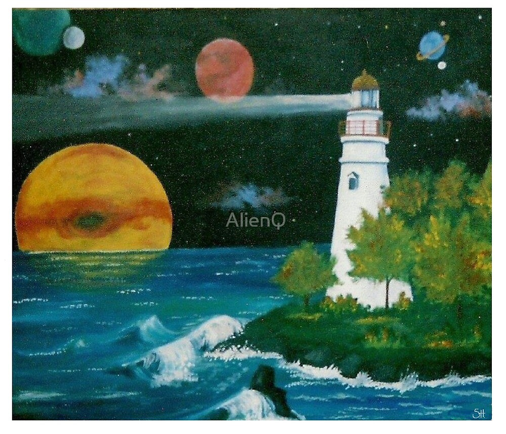 Cosmic lighthouse by AlienQ