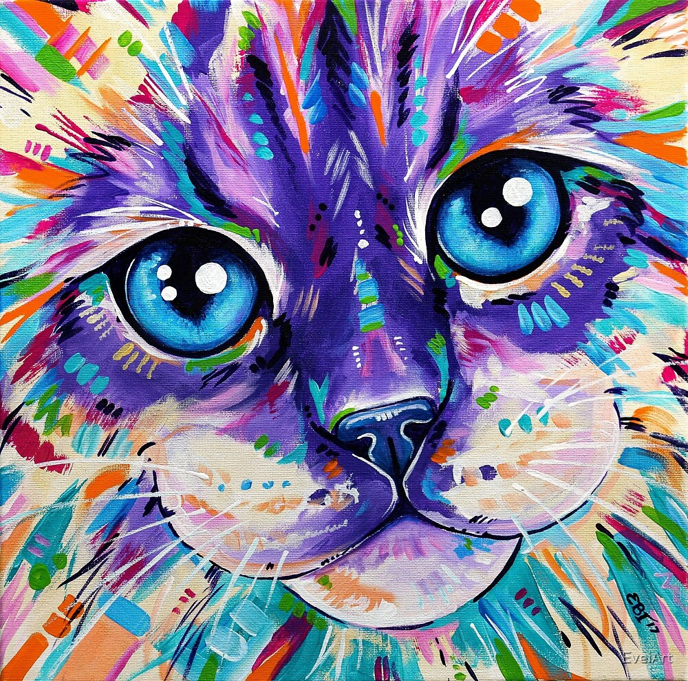 Cats in Color 1 - Ragdoll Cat by EveiArt