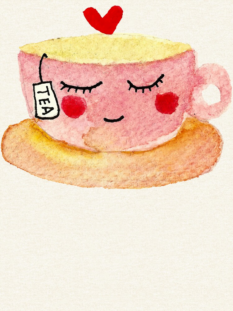 You are my cup of tea watercolor doodles by shashira
