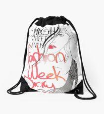 Fashion Week Diary Drawstring Bag