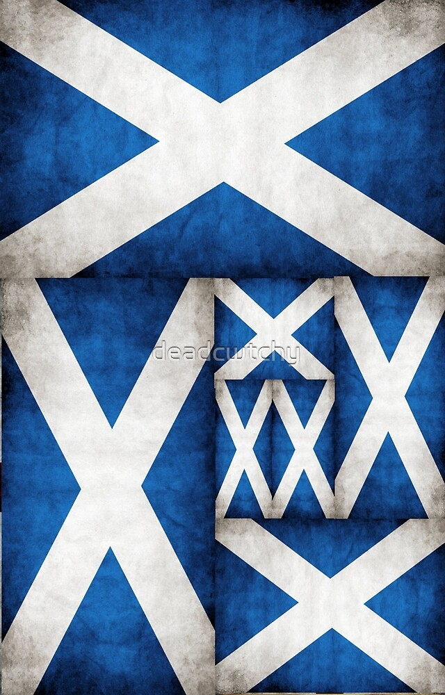 Scotland St Andrew Flag T Shirt and Hoodie by deadcwtchy