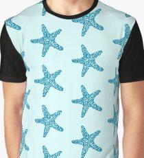 Tribal Starfish - Ocean Blue Graphic T-Shirt