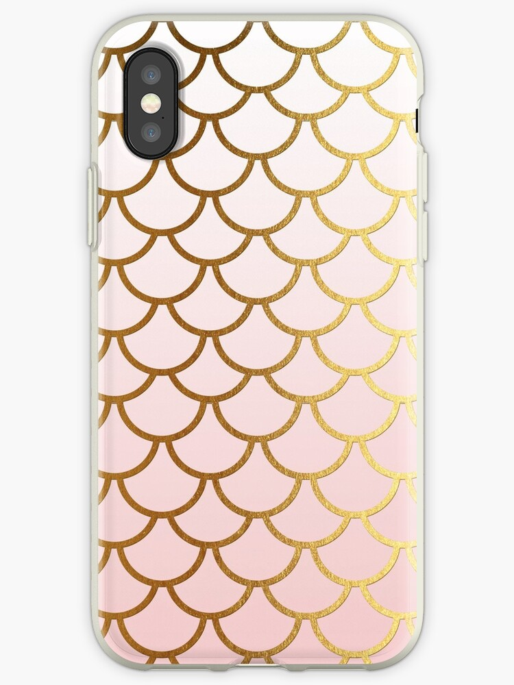 Rosegold Pink and Gold Mermaid Scales by UtArt