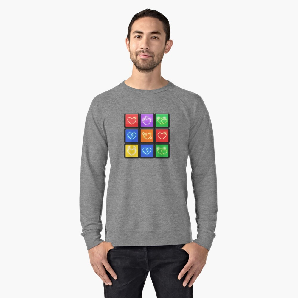 Rubik's Cube with Love Puzzle Lightweight Sweatshirt Front