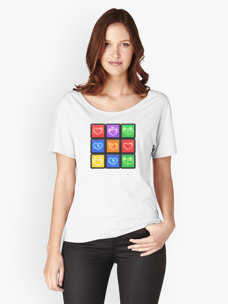Rubik's Cube with Love Puzzle Women's Relaxed Fit T-Shirt Front