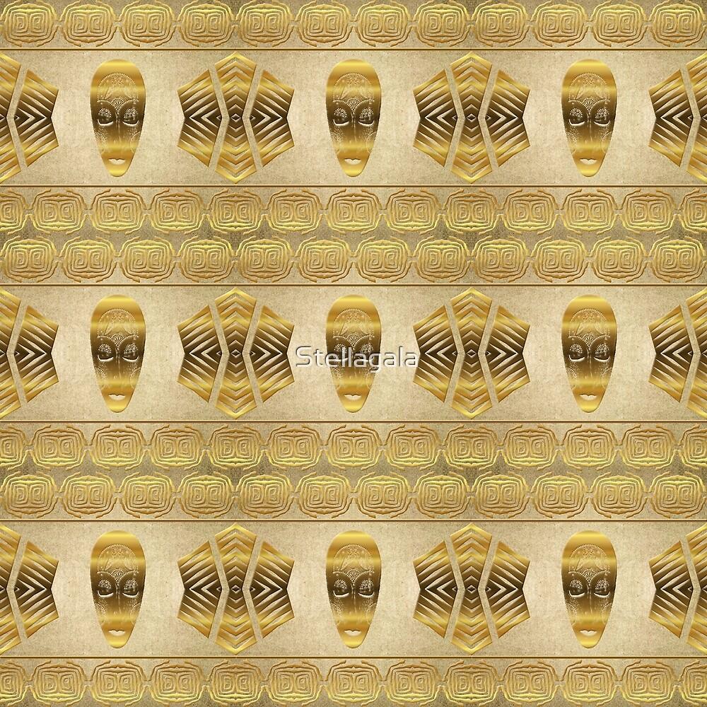 Ethnic african golden pattern . by Stellagala