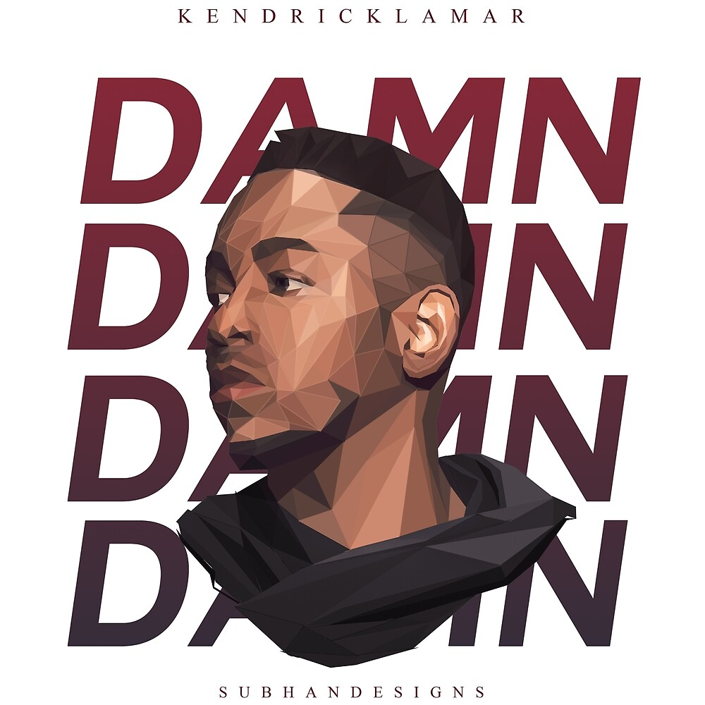 KENDRICK LAMAR FACE T SHIRT  by Subhan22