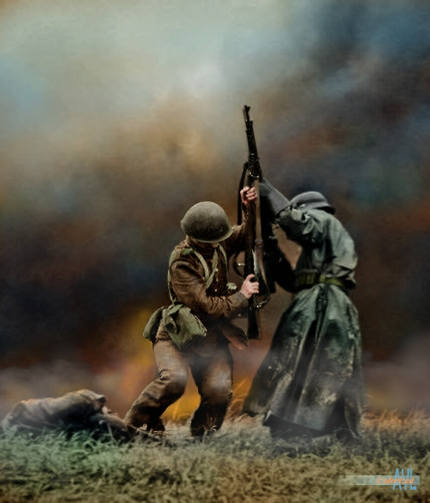 Close combat between a Polish & Nazi soldier, Battle of Mlawa, 1939 by lexmil