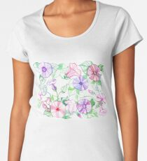 Decorative floral abstract background  watercolor Women's Premium T-Shirt